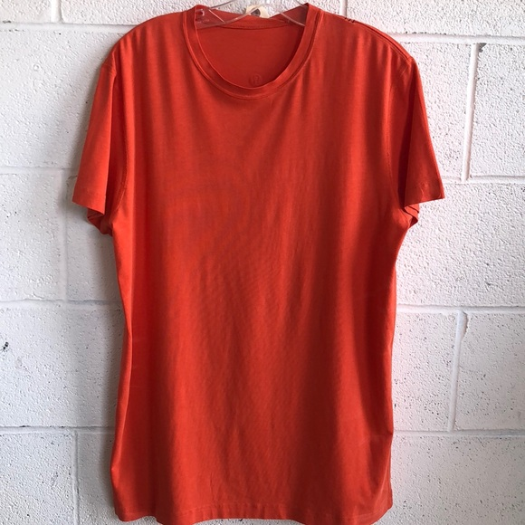 lululemon athletica Other - lululemon men's orange t-shirt szL 61130